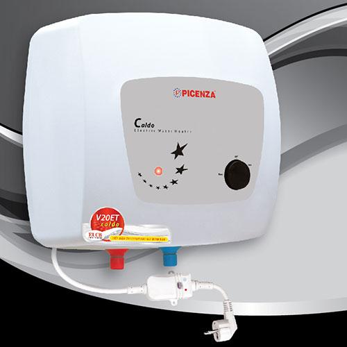 Bình nóng lạnh Picenza 20L V20ET (20 Lít) model mới đèn báo nguồn sẵn sàng