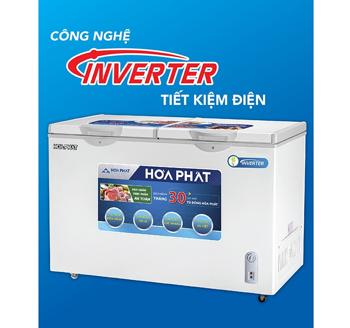 Tủ đông Hòa Phát Inverter 2 ngăn 2 cánh HCFI 606S2Đ2