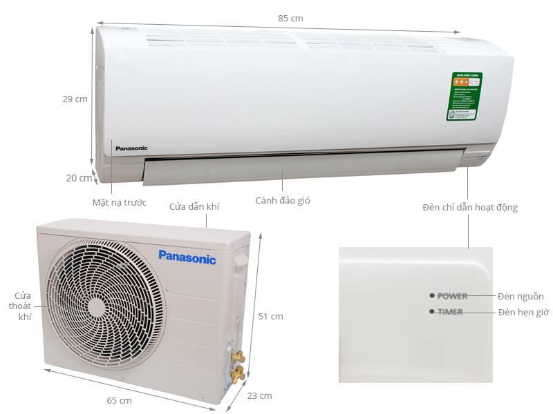 Thông số kỹ thuật Điều hòa Panasonic 9040 BTU CU/CS-KC9QKH-8