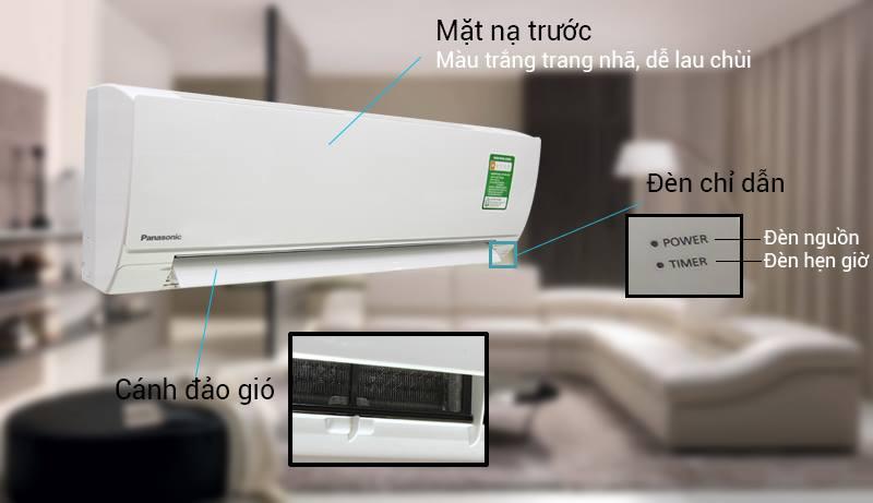 Điều hòa Panasonic 1 HP CU/CS-KC9QKH-8 có thiết kế nổi bật với gam màu trắng bắt mắt